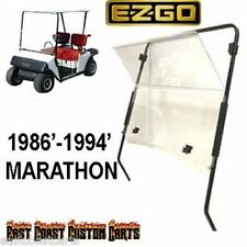 EZGO Marathon 1986'-1994' Golf Cart Fold Down Windshield CLEAR