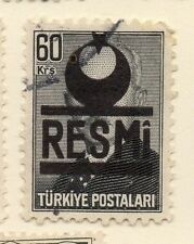 Turkey 1955-56 Early Issue Fine Used 60k. Resmi Optd 086218