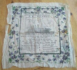 V Rare Original Sinking Of THE SS TITANIC In 1912 SOUVENIR NAPKIN TISSUE PAPER