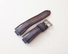 Handmade Leather Watch Strap Oris Aquis, ORIS watchband GREY & red, all size