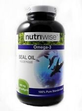 NUTRIWISE seal oil 500mg 120 softgels 高质量 120 粒 500单位 x 10 bottles 1200 粒