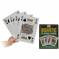 NEW GIANT A4 PLAYING CARDS JUMBO CARD PLAY YOUR CARDS RIGHT FAMILY PARTY GAME