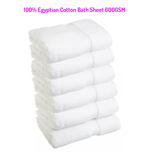 16X Luxury 100% Egyptian cotton  soft  600 GSM Bath sheet Hotel Quality Sheets