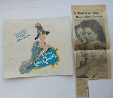 Latin Qurarter  Souvenir Photo Folder Miss Universe 1954 ?
