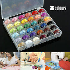 36 Spools Empty Bobbins Case Organizer Sewing Machine Bobbin Clear Box Storage