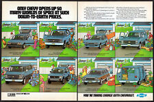 1984 CHEVROLET Vintage Original 2 page Print AD Cavalier Suburban Caprice CA EN