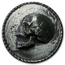 1 kilo Silver Round - (Skull, Ultra High Relief) - SKU #103102