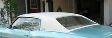 1970 1971 1972 MONTE CARLO VINYL TOP ROOF COVER WHITE LEVANT PADDED (FUZZY BACK)