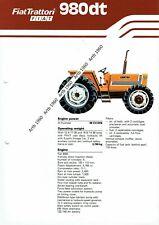 Fiat 980dt tractor 4 pg leaflet /Brochure 1981?