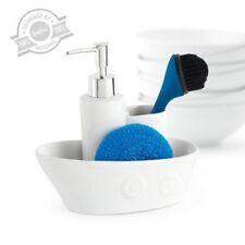 Balvi Cruise Washing Up Set Wash Tidy Ceramic White Tidy inc Brush RRP £29 SALE