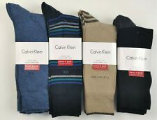 8/16 pack Calvin Klein Mens Combed Cotton Classic dress socks One size
