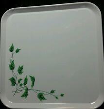 "Retro Lot of 16 Serve-a-Dish Square Metal Trays English Ivy 1960's 10.5"" Square"
