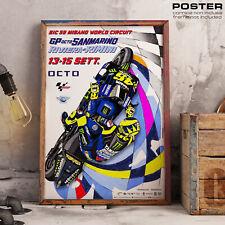 POSTER MOTO GP Sanmarino Misano World Circuit Siimoncelli 58 VR46 Yamaha Honda