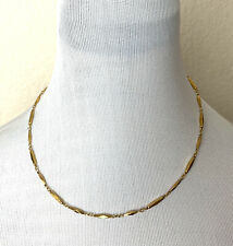 Nikken Necklace Gold Tone Diamond Cut Magnetic Therapy Demo Use Only