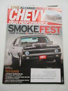 CHEVY HIGH PERFORMANCE MAGAZINE NOVEMBER 2015 1964-1967 CHEVELLE PERFORMANCE