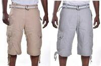 Southpole Men's Ripstop Camo/Solid Cargo W Belt Shorts Choose Color & Size