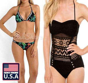 US New Sexy Women Ladies' One-Piece Swimwear Bandage Monokini Swimsuit Bikini ol