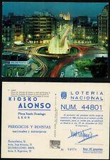 Año 1972. Participación LOTERIA. POSTAL PUBLICITARÍA LEÓN. 10 Pesetas. Nº 44801.