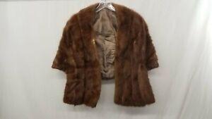 Vintage Brown Mink Fur Stole Jacket