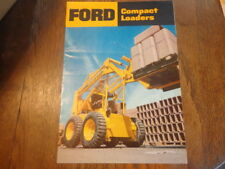 Ford Compact Loaders Sales Brochure Ford Tractor