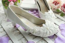 escarpins chaussure à talon mariage dentelle sandale mariée pointure taille 36