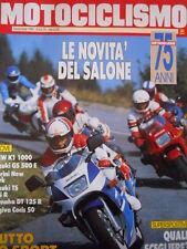 MOTOCICLISMO n°11 1989 BMW K1 1000 Suzuki GS 500 E Yamaha Dt 125 R [P34]