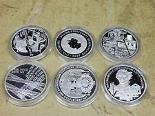 2003 , 6 x 10 Euro Silber PP , Jahrgang komplett