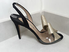 NICHOLAS KIRKWOOD Ladies black / gold shoes - sandals - size 41 with dustbag