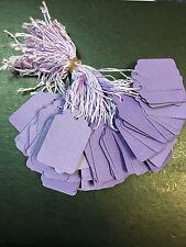 100 x 32 mm X 22mm Viola fabbrica stringa Tag Swing PREZZO BIGLIETTI TIE sulle etichette