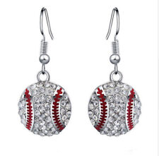 NEW Baseball Earrings Crystal MLB Sports Baseball Mom Rhinestone US Seller