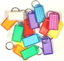 Large Key Ring Tags/Identifiers/Labels - Mixed Colours - Pack of 50