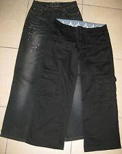 RIP CURL  Lot de 2 pantalons Femme noir satiné T28 et Jeans EC noir délavé T34