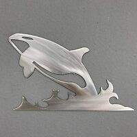 Orca 2 ALUMINUM Metal Wall Art Skilwerx 14 X 9 Nautical