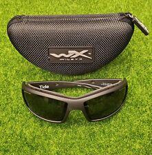 Wiley X WX Tide Men's Sunglasses Smoke Grey Lens Black Ops Black Frame - CCTID01