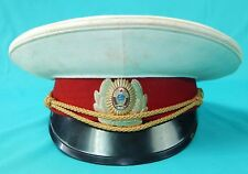 Vintage Soviet Russian Russia USSR Union Police Uniform Cap Visor Hat Badge