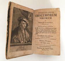 Epistolarum Obscurorum Virorum von 1757 - A.D. MDCCLVII