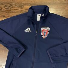 Mens Indy Eleven Adidas Soccer Team Jacket With Logo Patch Size Small NASL USL