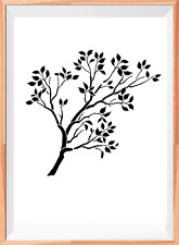 Tree Branch A4 Mylar Reusable Stencil Airbrush Painting Art Craft DIY Home