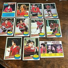 1980-81 O-Pee-Chee  CHICAGO BLACKHAWKS 20 Card team set/lot  unmarked checklist