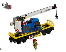 LEGO City Cargo train 60198 Crane wagon/carriage only - No Powered UP included