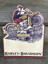 VINTAGE 1930 HARLEY DAVIDSON D DL VL MOTORCYCLE Clip Board GAS OIL SIGN