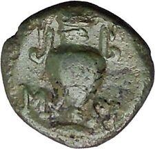 Myrina in Aeolis 2nd-1st Cent BC Rare Ancient Greek Coin Helios Amphora  i49512