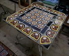 Malibu Tile Table in Iron Vintage California