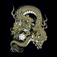 Golden Dragon Makie Sticker from Japan