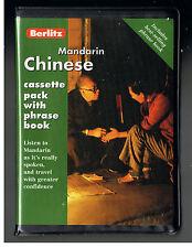 BERLITZ MANDARIN CHINESE CASSETTE PACK WITH PHRASE BOOK [1998]BRAND NEW!