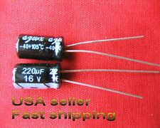 4 pcs  -  220uf 16v  105C  electrolytic capacitors  FREE SHIPPING