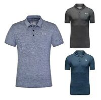 New Under Armour Golf Polo Shirt Grey Black Blue Marl Selection (Fitted)