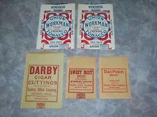 Scotten Dillon Unused Tobacco Pouch Lot Union Workman Sweet Mist Darby Dan Patch