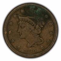 1840 1c Braided Hair Large Cent SKU-Y2648