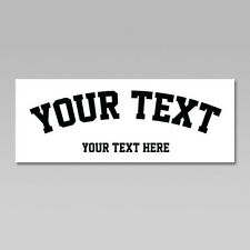 Custom Your Text Iron On Heat Transfer, Arched Team Sports Font, 20 Colors